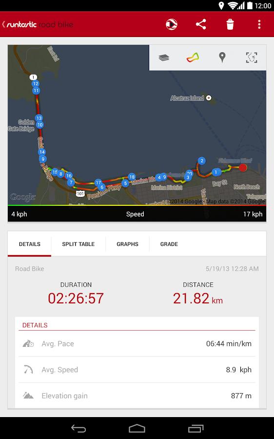 Runtastic Road Bike Tracker - screenshot