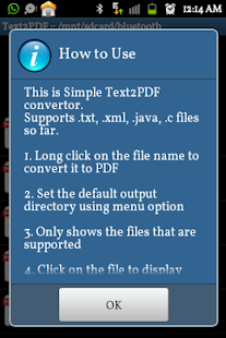 Text to PDF Converter Pro- screenshot thumbnail
