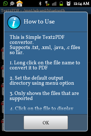 Text to PDF Converter Pro- screenshot