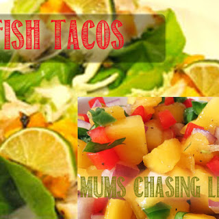 Fish Taco Lettuce Wraps with Mango Pico Relish