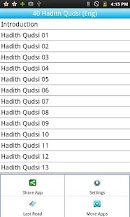 40 Hadiths Qudsi English Free - screenshot thumbnail
