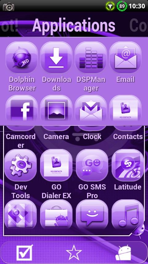 Cyanogen Purple ssLauncher - screenshot