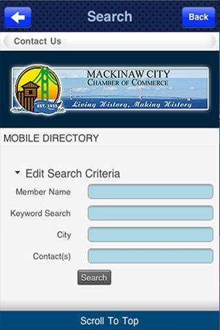 Mackinaw City Chamber- screenshot