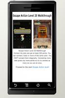 Screenshot of Escape Action Guide