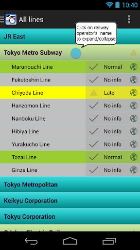 Tokyo Railway Status