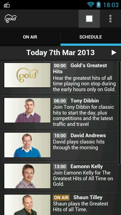 Gold Radio App - screenshot