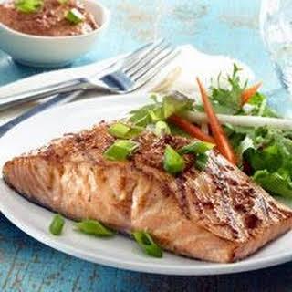 Ancho-Honey Glazed Salmon.