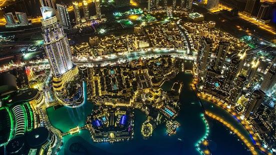 迪拜在夜間動態壁紙