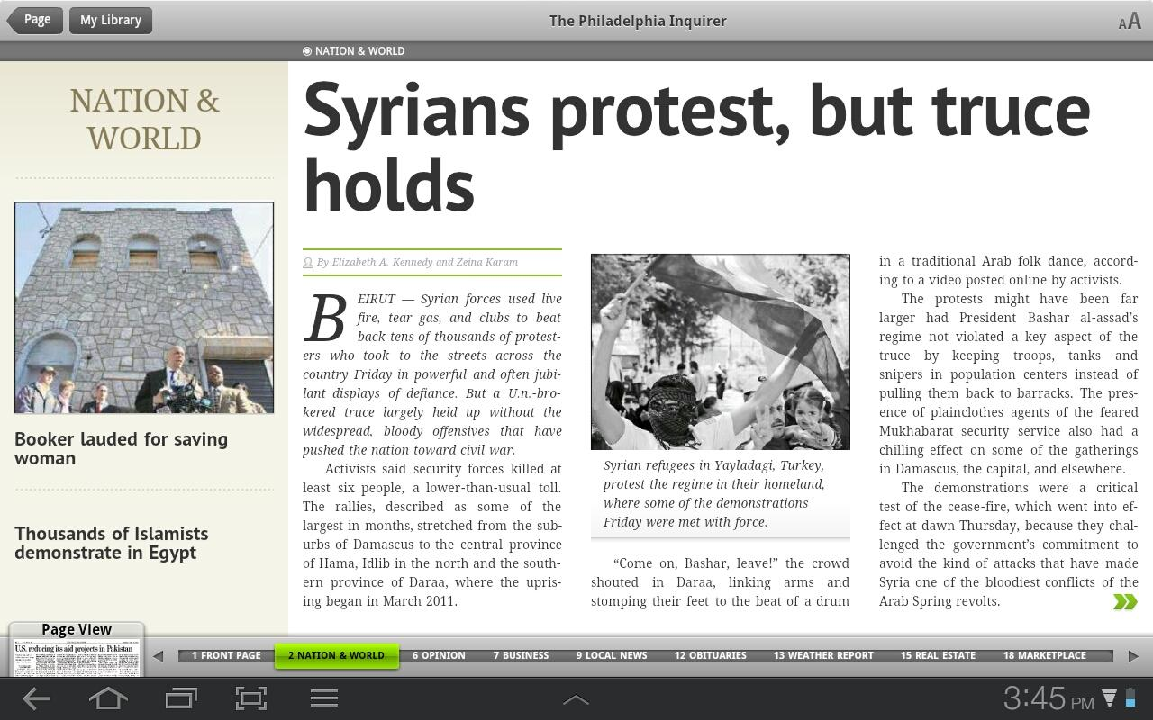 PressReader for Honeycomb - screenshot