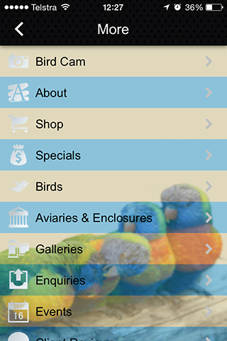 Camsal Aviaries- screenshot