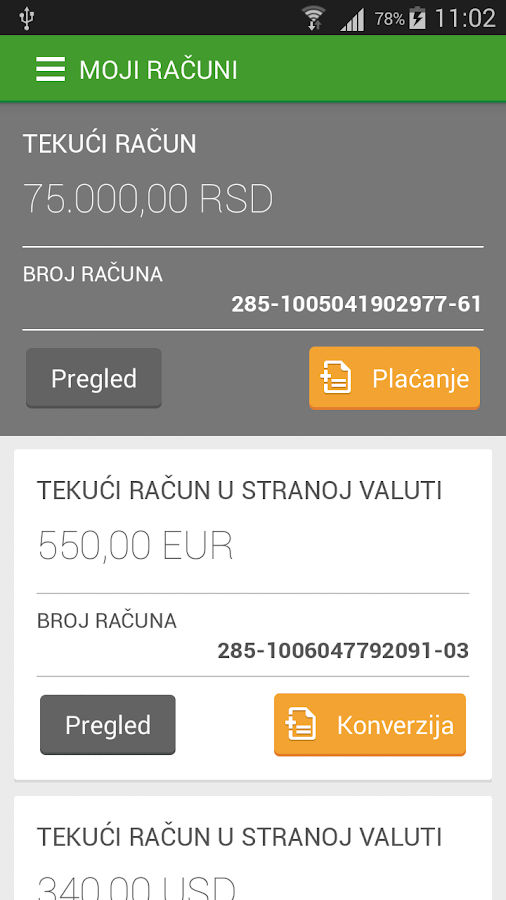 Sberbank mBanking- screenshot