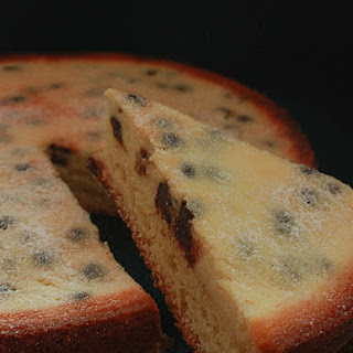 Upside-down Ricotta and Chocolate Chip Cake.