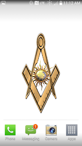 Masonic Gold Square Compass Live Wallpaper Android App Screenshot