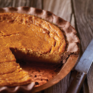 Chocolate-Crusted Pumpkin Pie