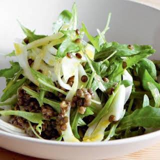 Arugula, Fennel, and Green Lentil Salad from 'River Cottage Veg'.