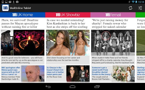 Daily Mail Online Tablet- screenshot thumbnail