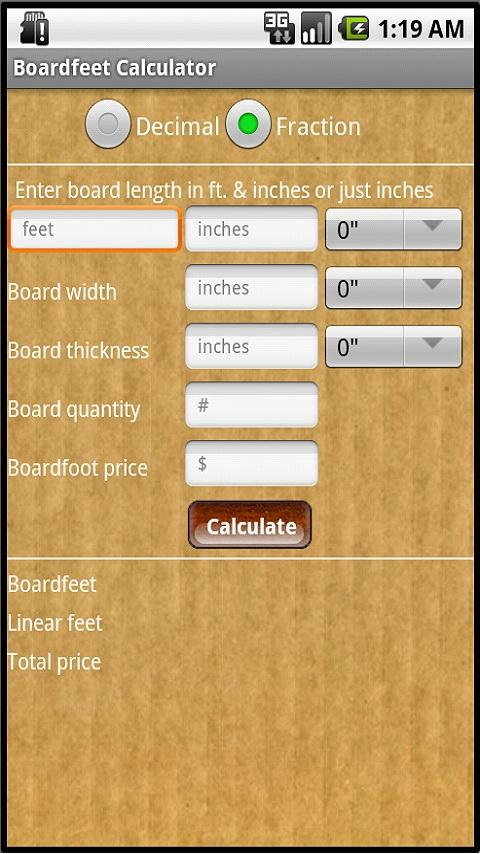 Lumber calculators pro android apps on google play for Lumber calculator for house