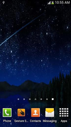 유성 스타 반딧불 라이브 배경 화면