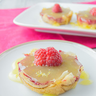 Raspberry Strudel Tarts with Lemon Curd