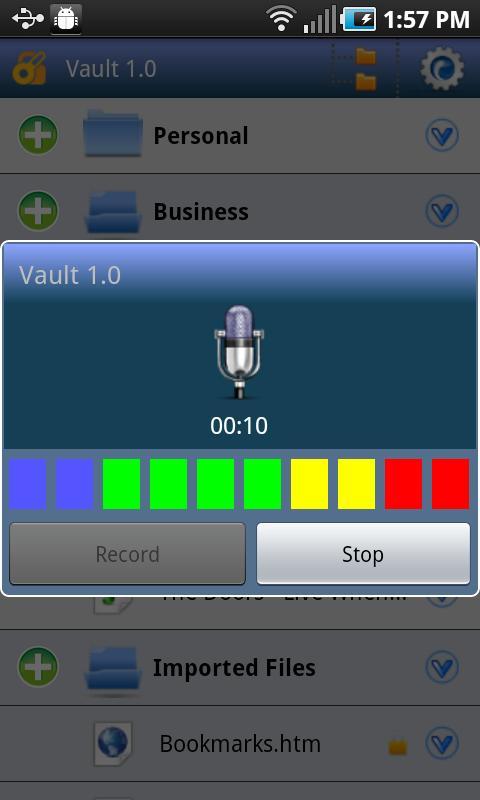 Secure Voice Recorder / Camera - screenshot
