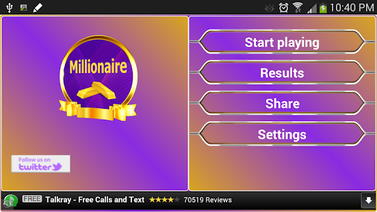 Millionaire for PC-Windows 7,8,10 and Mac apk screenshot 1