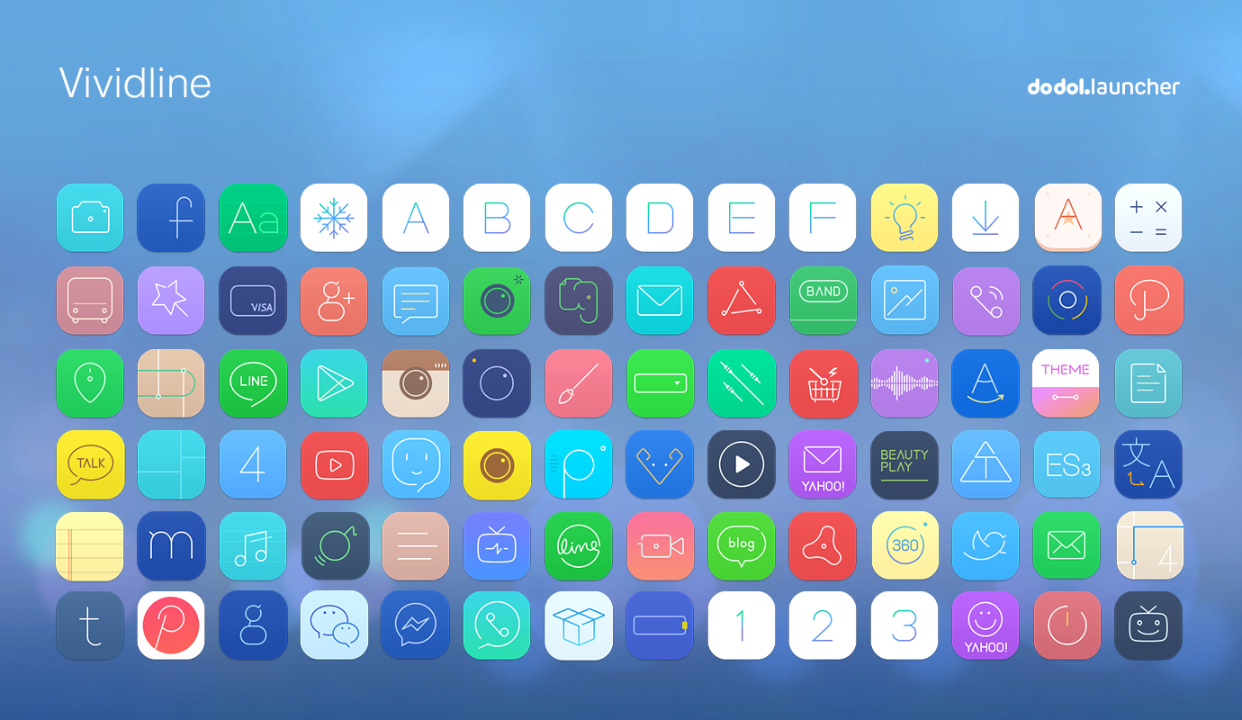 Google themes got7 - Vividline Line Launcher Theme Screenshot