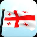 Georgia Flag 3D Free Wallpaper icon