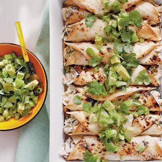 Chicken Enchiladas with a Fresh Salsa Verde.