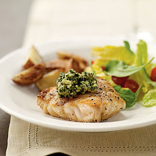 Grilled Grouper with Basil-Lime Pistou.