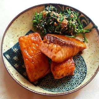 Salmon Teriyaki (さけ てりやき).