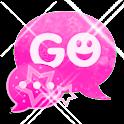 GO SMS Theme Pink Star logo