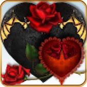 TSF Shell Red Black Goth Heart