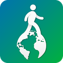 Virtual Walk Treadmill or GPS icon