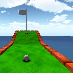 漫画のミニゴルフゲーム3D