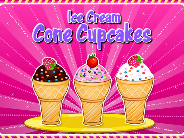 android Cooking Ice Cream Cone Cupcake Screenshot 0