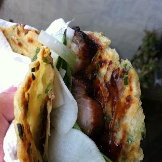 Peking Pork Belly Tacos.