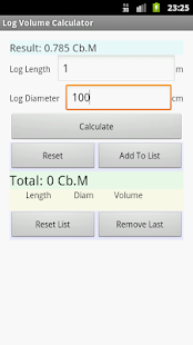 Log Volume Calculator - screenshot thumbnail