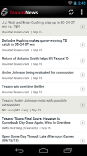 Texans News - screenshot thumbnail