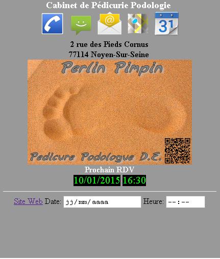 Carte de Visite Perlin Pimpin