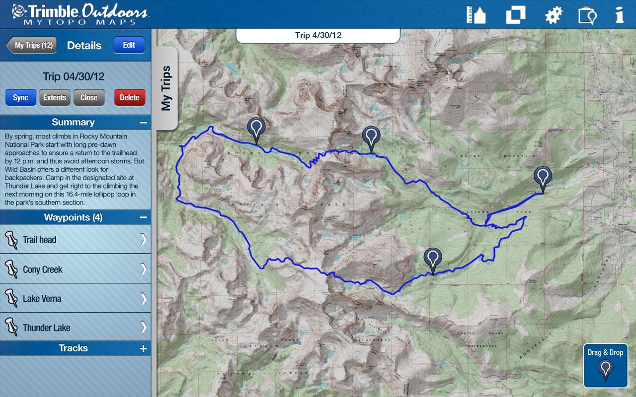 MyTopo Maps - Trimble Outdoors - screenshot