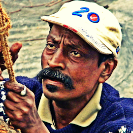 Searching Eyes by Saptak Banerjee - People Portraits of Men ( plan, searching, making, man, human, eyes,  )