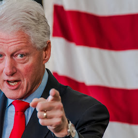 Bill Clinton's point of view by Matt Mcclenahan - People Professional People ( president, politics, speech, flag, facial expression, focused, pointing, clinton, bill clinton, democrat, finger )