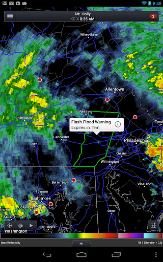 Screenshot for RadarScope in United States Play Store