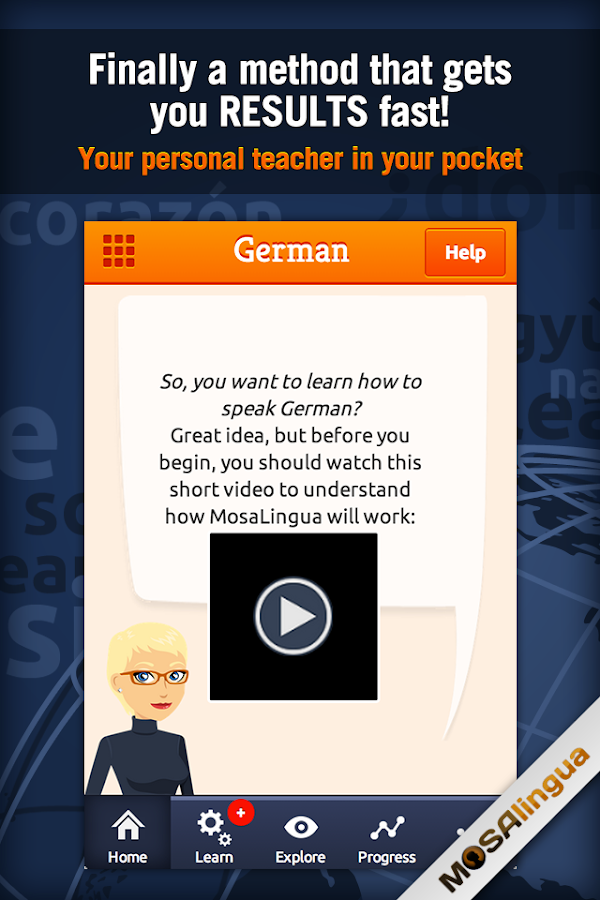 Learn German with MosaLingua - screenshot