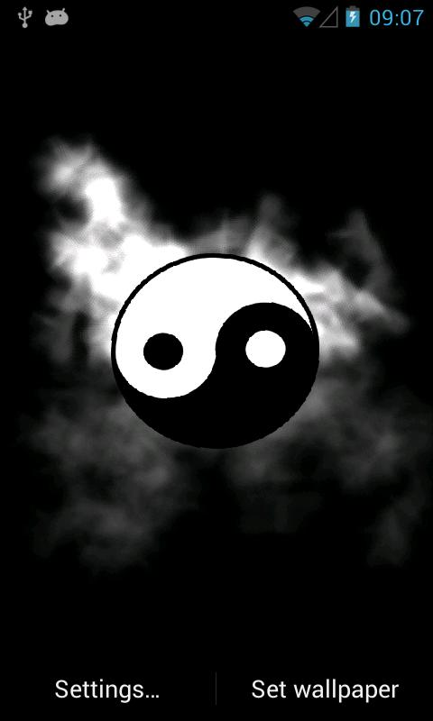 Yin Yang Live Wallpaper - screenshot