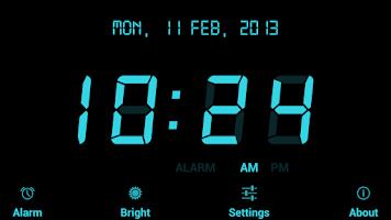 Screenshot of Digital Alarm Clock Free