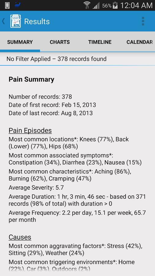 Manage My Pain Pro - screenshot