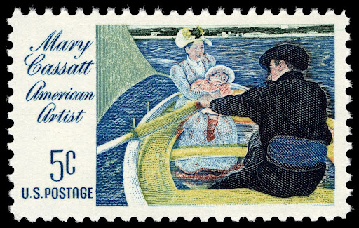 "5c Mary Cassatt ""The Boating Party"" stamp"