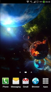 Deep Space 3D Pro lwp Screenshot