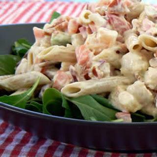 Shrimp Avocado Pasta Salad.